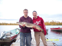 Pike caught off dock & released